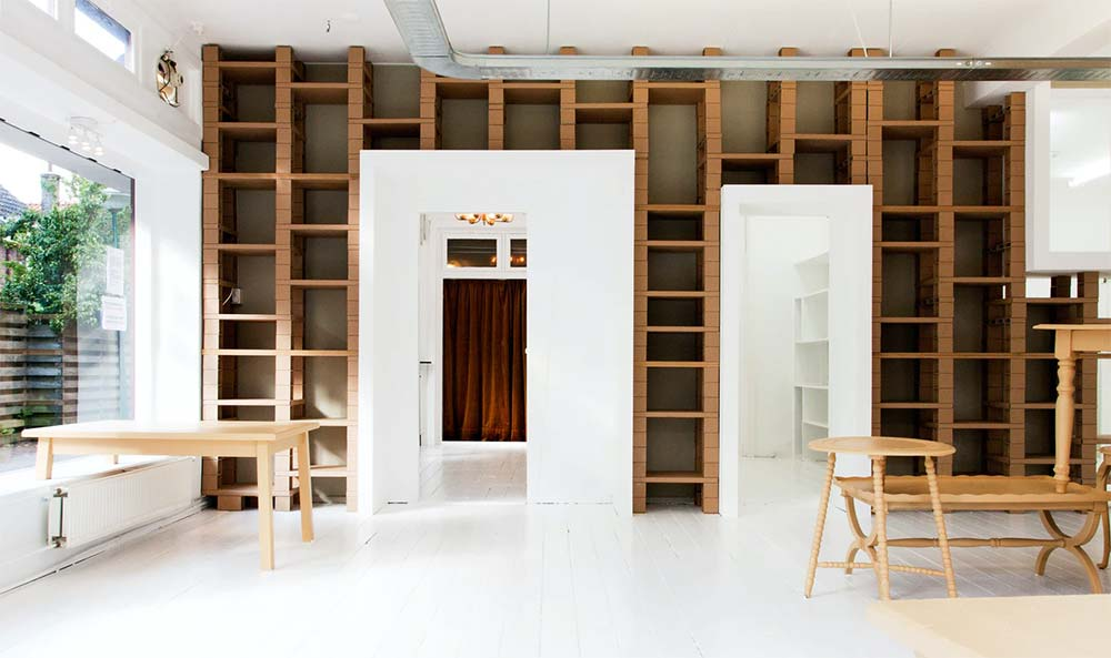Modern Interior of the Skin Doctor Clinic, with a blend of wood furnishings and white flooring aesthetics