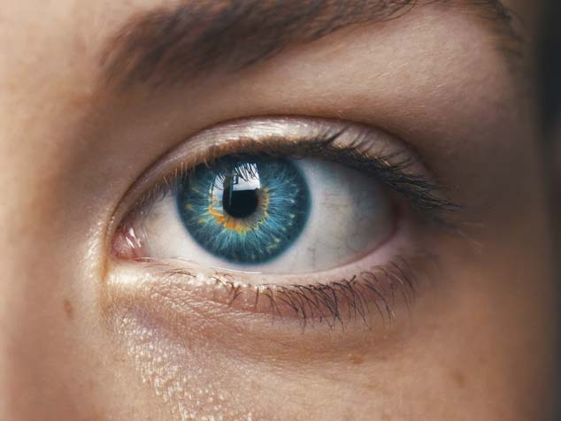 A person with blue eyes and past history of solar keratosis is in medium risk for skin cancer